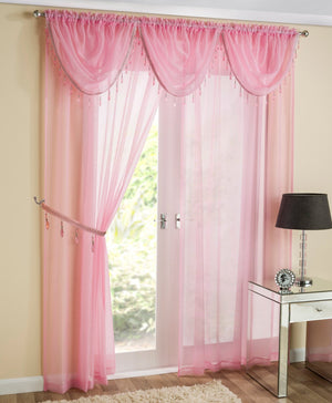 Crystal Voile Panel Pink