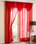 Crystal Voile Panel Red