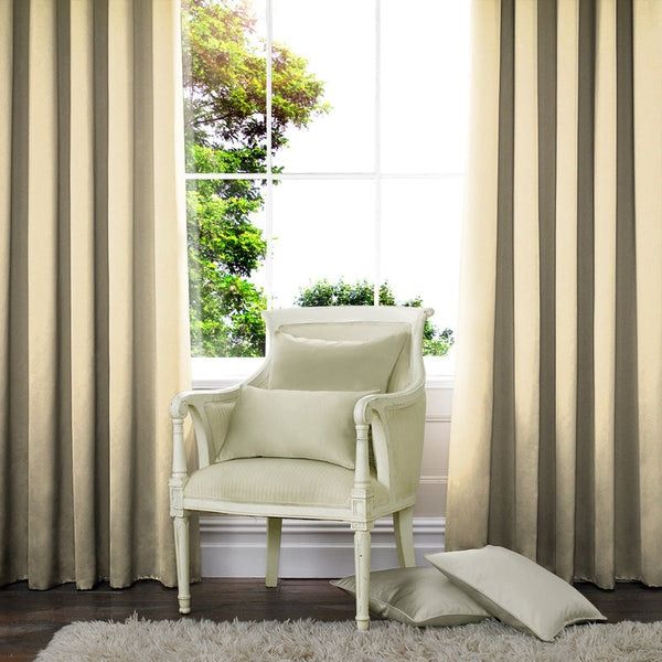 Satin Made to Measure Curtains Pannacotta