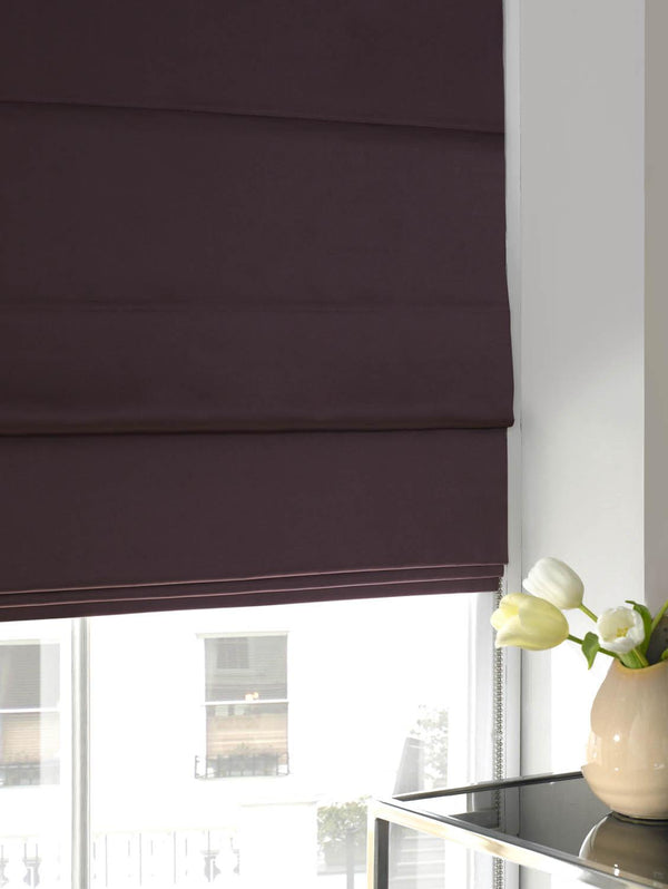 Satin Roman Blind Heather