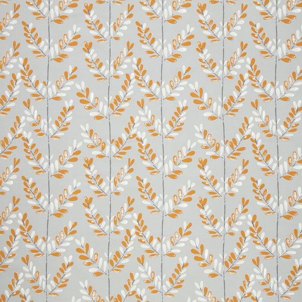 Scandi Sprig Curtain Fabric Tangerine