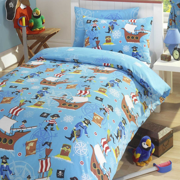 Sea Pirates Kids Bedding Set Multi
