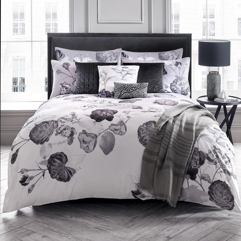 Karl Lagerfeld Senna Floral Bedding Collection Mauve