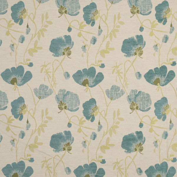 Serafina Curtain Fabric Teal