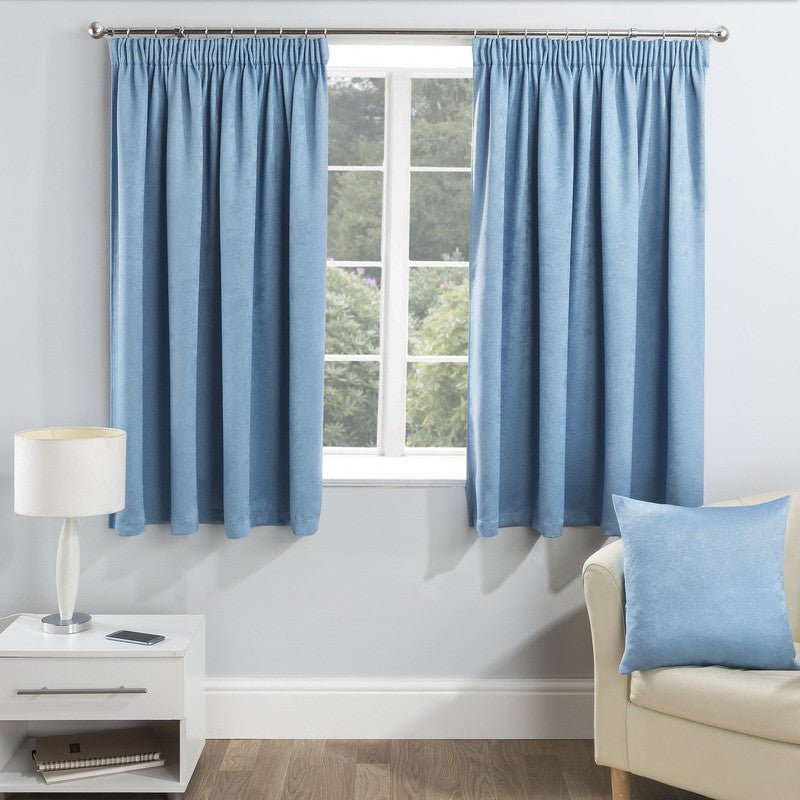 Tyrone Ready Made Curtains Serenity Ready Made Blockout Curtains Blue Picture