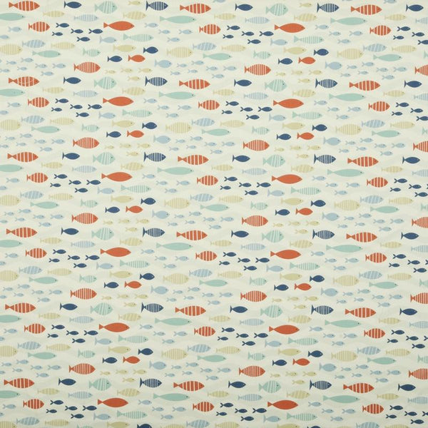 Shoal Curtain Fabric Blue