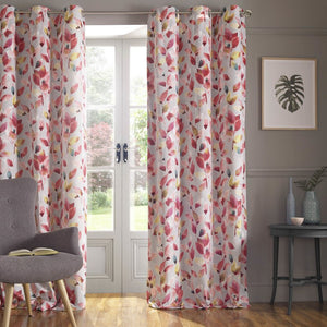 Shola Ready Made Lined Eyelet Curtains Autumn
