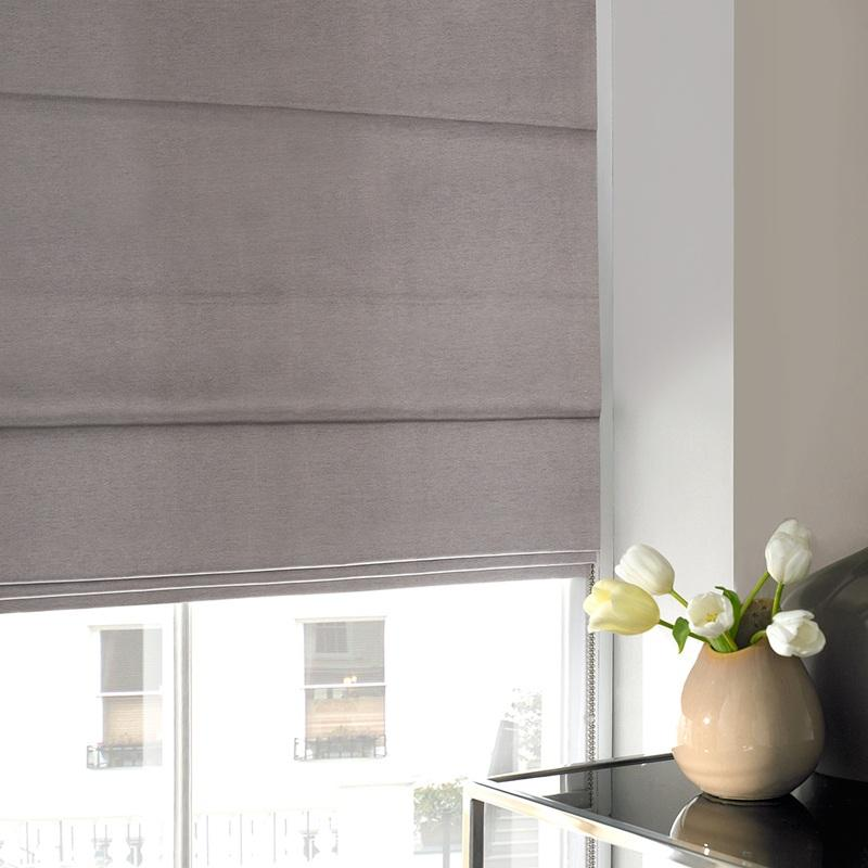 Gordon John Blinds Silky Roman Blind Bark Picture