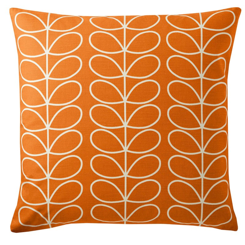 Ashley Wilde Cushions And Throws  Orla Kiely - Small Linear Stem Filled Cushion Persimmon
