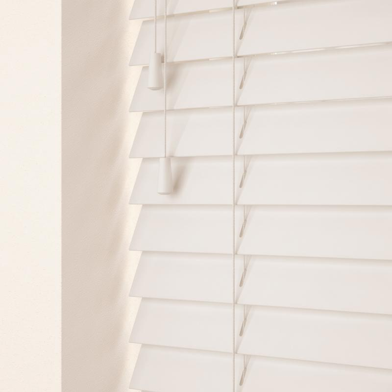 Decora Primary 35mm Primary Wood Venetian Blinds Snow Picture