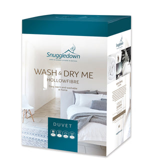 Snuggledown Wash and Dry Me Hollowfibre Thermofill All Seasons 13.5 Tog Duvet