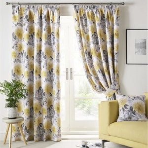 Sofia Ready Made Lined Curtains Ochre