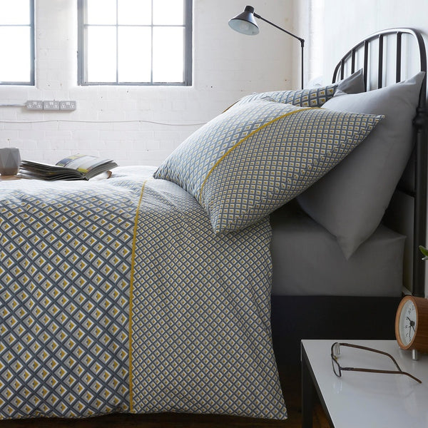 Racing Green - Soho Bedding Set Grey and Ochre