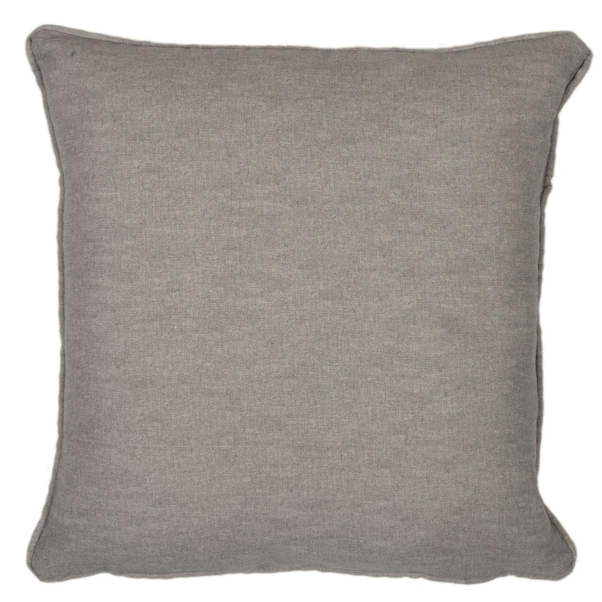 J Rosenthal Cushions And Throws Sorbonne Filled Cushion Charcoal Picture