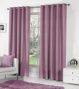 Sorbonne Ready Made Eyelet Curtains Heather