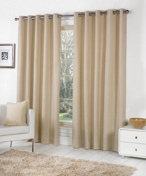 Sorbonne Ready Made Eyelet Curtains Natural