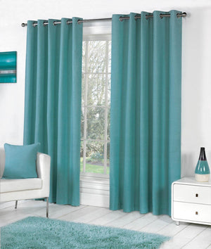 Sorbonne Ready Made Eyelet Curtains Teal