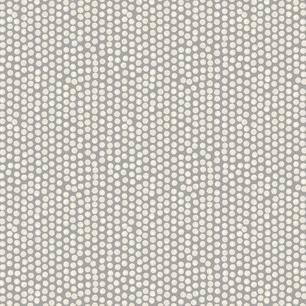 Spotty Curtain Fabric Grey