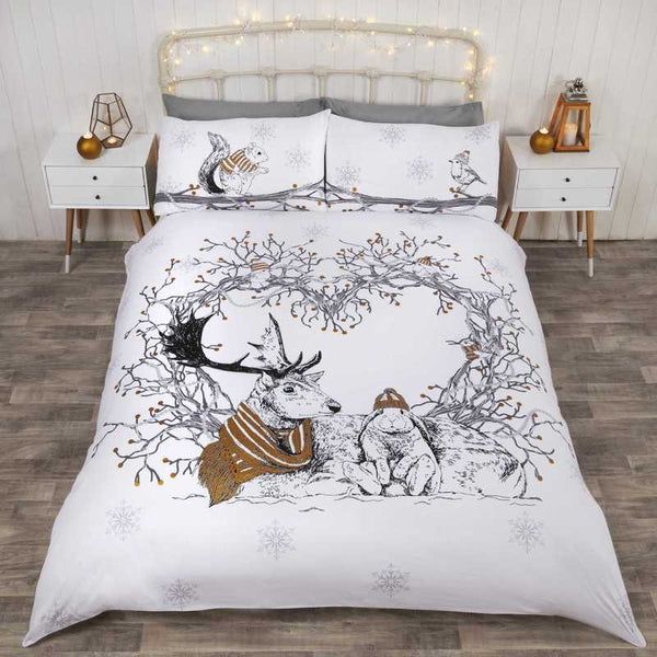 Stag and Friends Bedding Set Gold