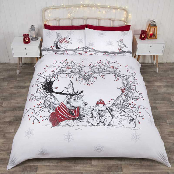 Stag and Friends Bedding Set Red