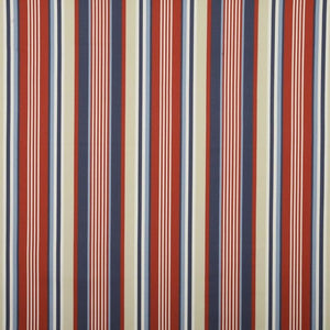 Stellar Stripe Curtain Fabric Blue