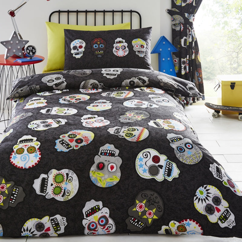 Portfolio Home Bedding  Sugar Skulls Kids Bedding Set Multi