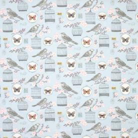 Clarke And Clarke Fabrics Melodie Curtain Fabric Duck Egg Picture