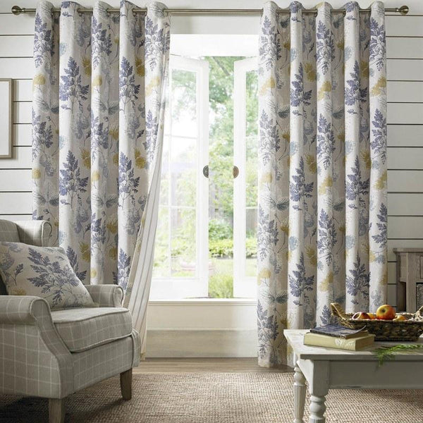 Sycamore Ready Made Lined Eyelet Curtains Teal