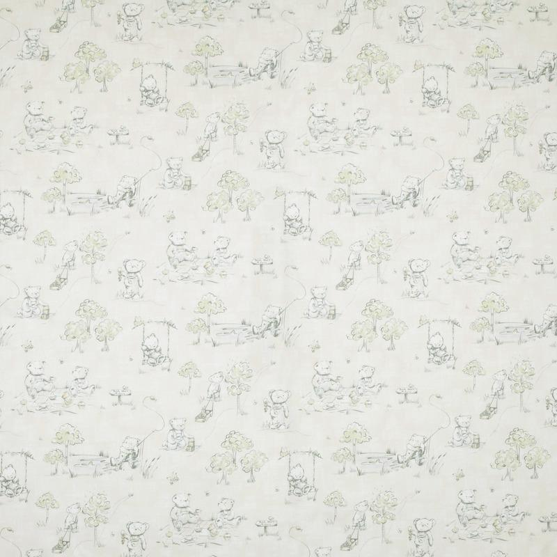 SMD Fabrics Teddys Picnic Curtain Fabric Pastels Picture