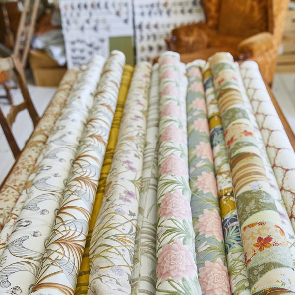 The Lily Garden Curtain Fabric Cream