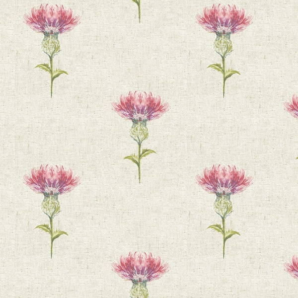 Thistle Curtain Fabric Rosso