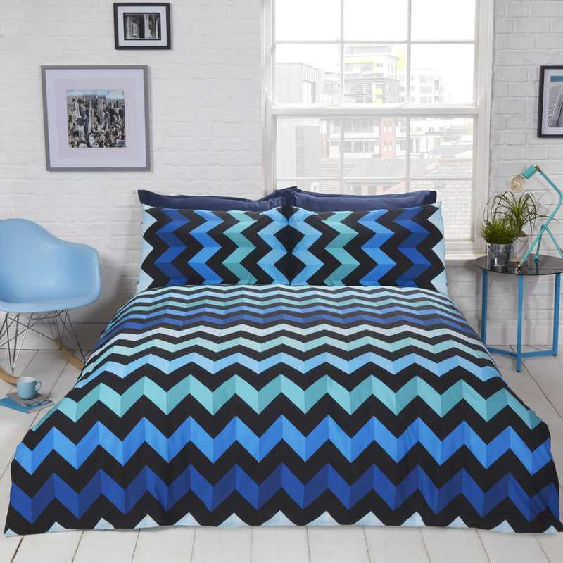 Rapport Beds Three D Bedding Set Blue Picture