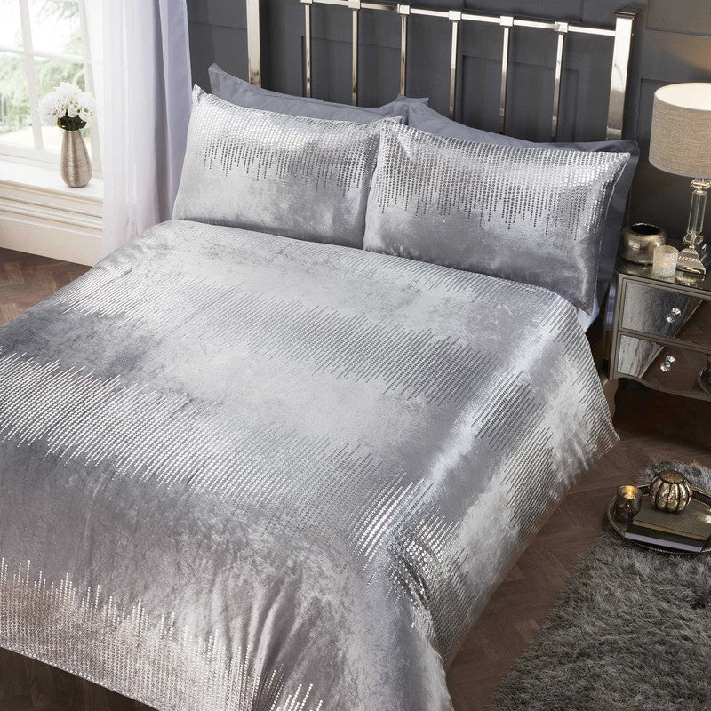 Rapport Beds Tiffany Embellished Bedding Set Silver Picture