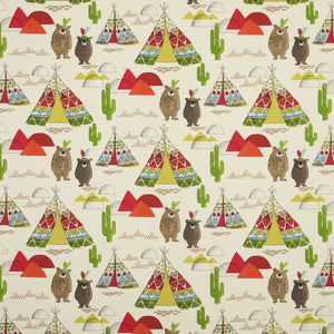 Tipi Curtain Fabric Rouge