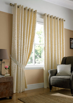 Tivoli Ready Made Eyelet Curtains Cream