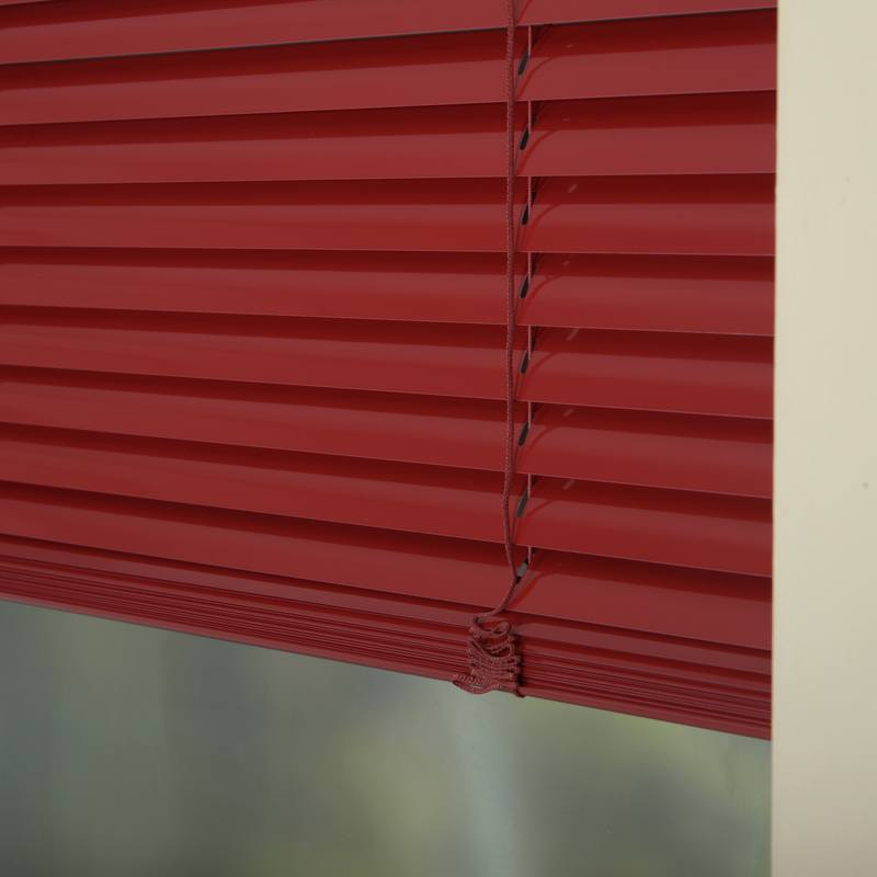 Decora Blinds 25mm Premier Aluminium Blinds Primary Red Picture