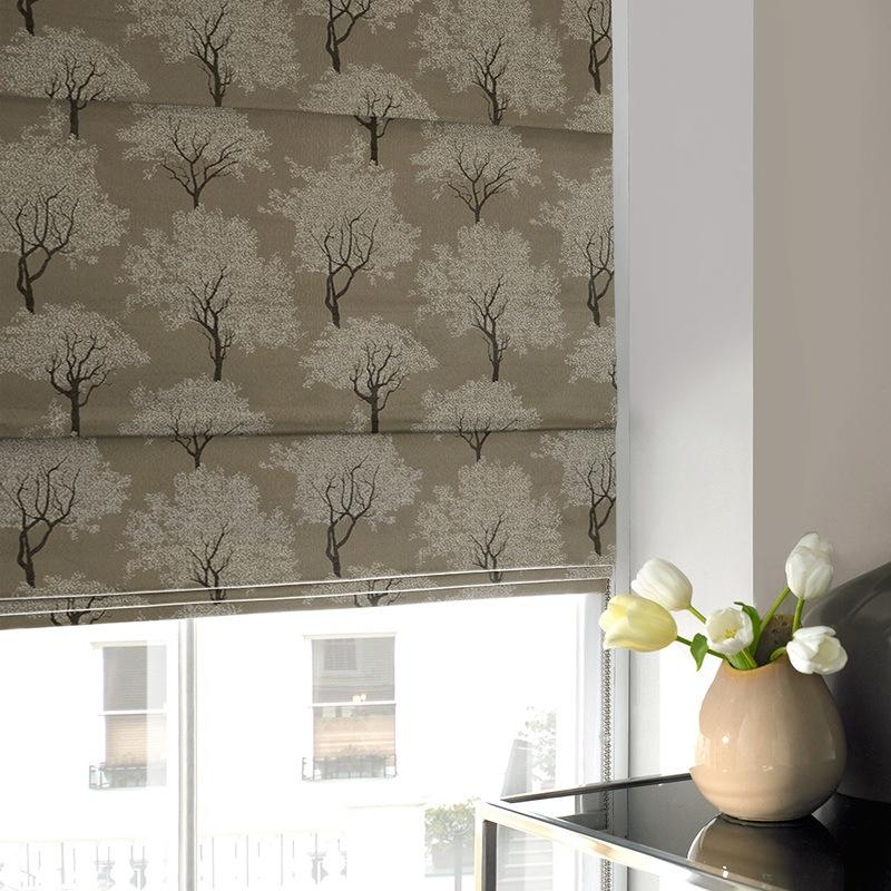 Illuminate Blinds Trees Roman Blind Slate Picture