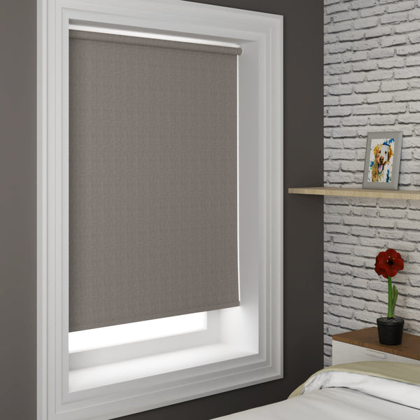 Tulsa Blackout Roller Blind Shadow
