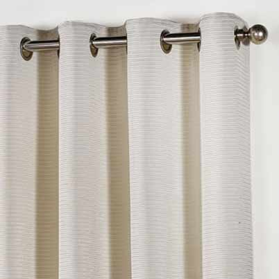 Stella Lined Eyelet Ready Made Curtains Ivory