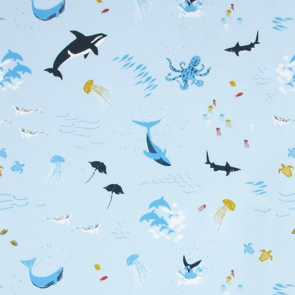 Under The Sea Curtain Fabric Sea