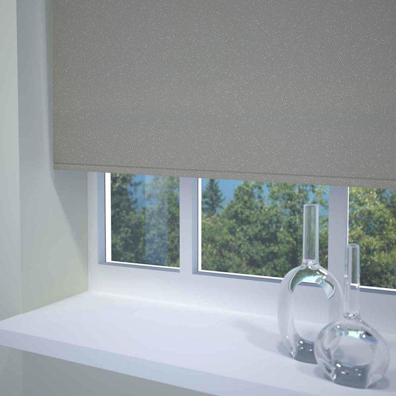 Sunflex Blinds Textured Sparkle Ready Made Blackout Roller Blind Grey Picture