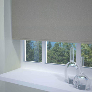 Textured Sparkle Ready Made Blackout Roller Blind Grey