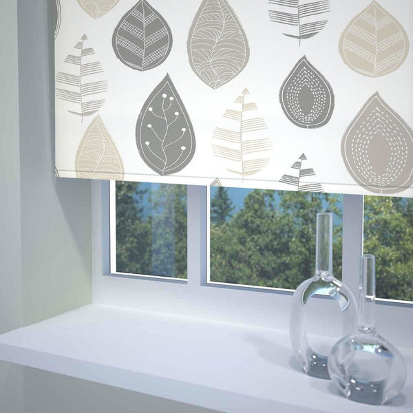 Leaf Ready Made Blackout Roller Blind Neutral