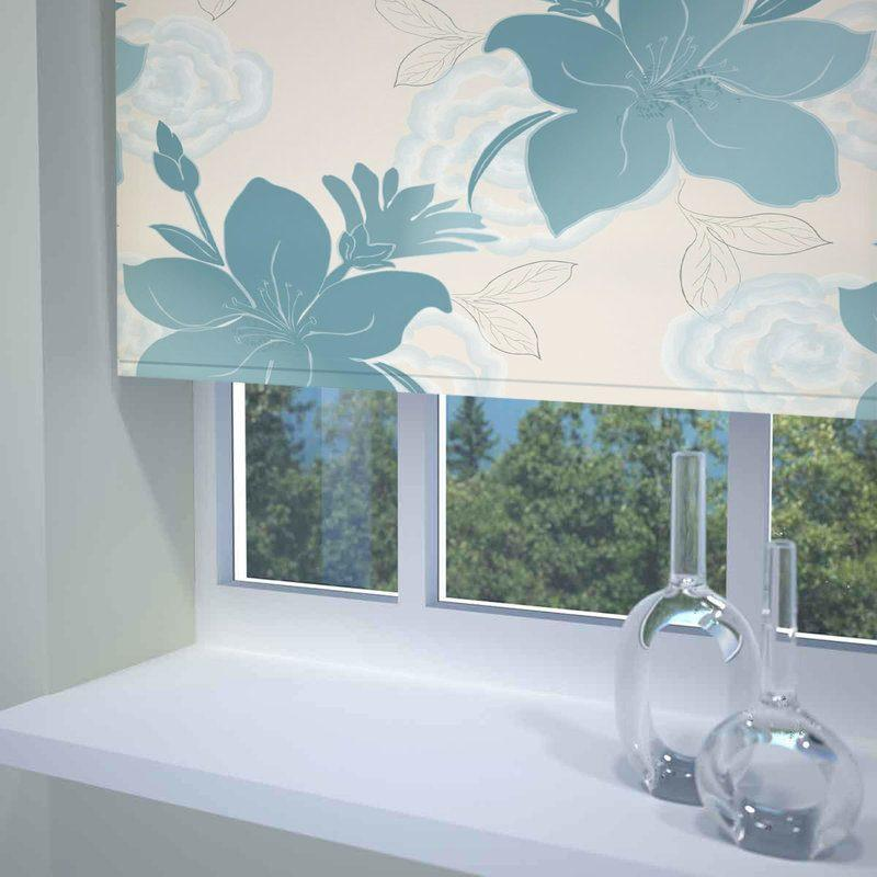 Sunflex Blinds Lily Ready Made Blackout Roller Blind Teal Picture