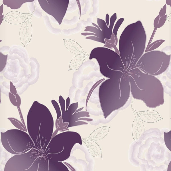 Lily Ready Made Blackout Roller Blind Purple