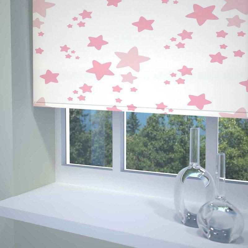 Sunflex Blinds Twinkle Twinkle Ready Made Blackout Roller Blind Pink Picture