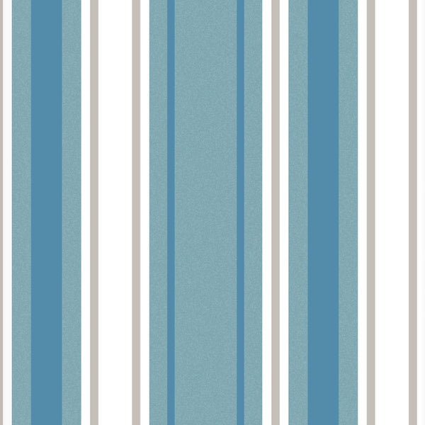 Stripe Ready Made Blackout Roller Blind Blue