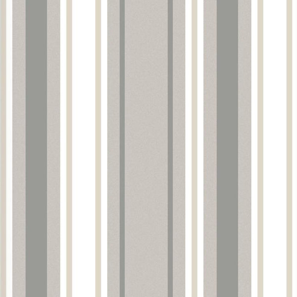 Stripe Ready Made Blackout Roller Blind Neutral
