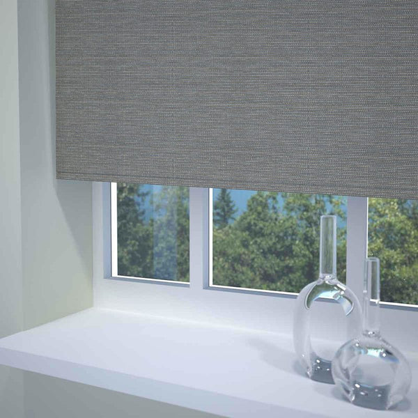 Textured Stripe Ready Made Blackout Roller Blind Charcoal