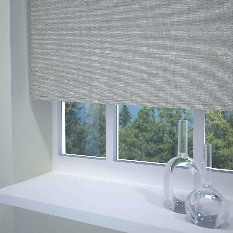 Sunflex Blinds Textured Stripe Ready Made Blackout Roller Blind Grey Picture